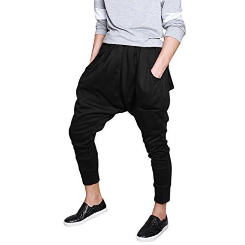 Allegra K Men Drop crotch Dance Sport Jogging Baggy Hip Hop
