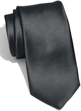 New Skinny Solid Black 2 Inch Necktie Tie