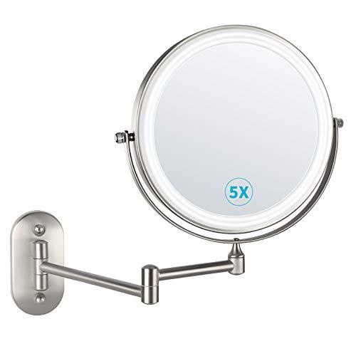 馃 alvorog Espejo de Maquillaje con Luz LED y 1x/5x Aumento Espejos