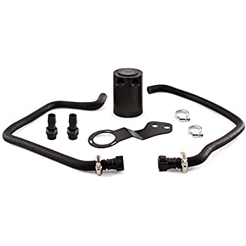Mishimoto MMBCC-CAM8-16PBL Black Bracket and Blue Hose Baffled Oil Catch Can