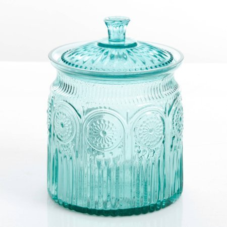 The Pioneer Woman Adeline Glass Cookie Jar - Turquoise by Product The Pioneer Woman (Image #1)