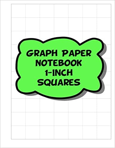 graph paper notebook 1 inch squares 1 square per inch grid lined