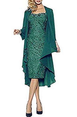 la scuro mamma CoCogirls o sposa da serata danzante per e elegante giacca con matrimonio Verde pizzo da per della in sera abito ideale r6xrqfBO