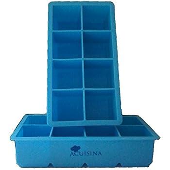 """Amazon.com: Extra-Large Silicone Tray, 2"""" Slow Melting Ice"""