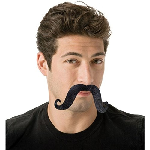 Cinco De Mayo Black Handlebar Moustache | Party Accessory]()