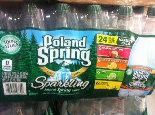 - Poland Spring Sparkling Natural Spring Water Variety Pack (24 Half Liter Bottes)