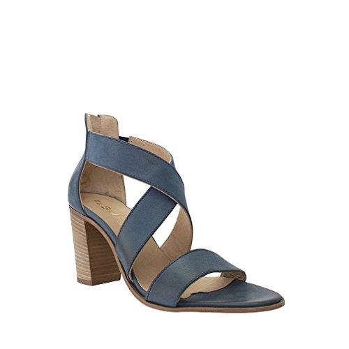 Sandalo Con Cinturino Incrociato Melrose In Pelle Blu Indigo 8100 Taglia 40