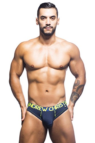 Andrew Christian Men's CoolFlex Brief Jock with Show-It, Navy, X-Large