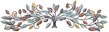 Bellaa 21987 Tree Of Life Metal Wall Art Scroll Leaf Wall Decor 52 Inch Everything Else