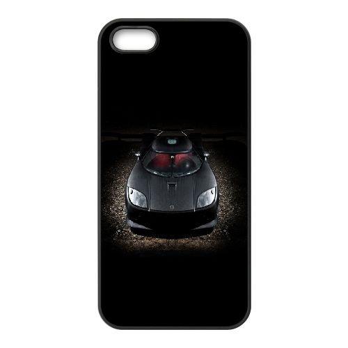 Noir Koenigsegg CCX CQ33NN2 coque iPhone 5 5s téléphone cellulaire cas coque T1TE1W1RG