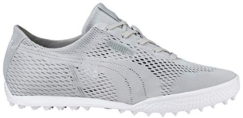 PUMA Golf Women's Monolite Cat Woven Golf Shoe Glacier Gray, 5.5 Medium US