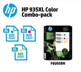 Genuine HP 935XL Cyan - Magenta and Yellow Factory Sealed Multipack