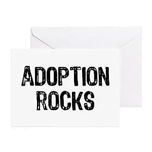 Amazon cafepress adoption rocks greeting card note card greeting cards m4hsunfo