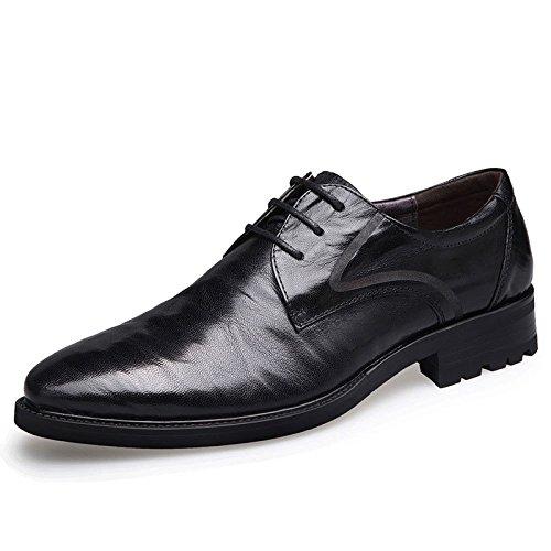 Business-Schuhe Männer Atmungsaktive Herrenschuhe Leder Spitzen Hochzeitsschuhe Black
