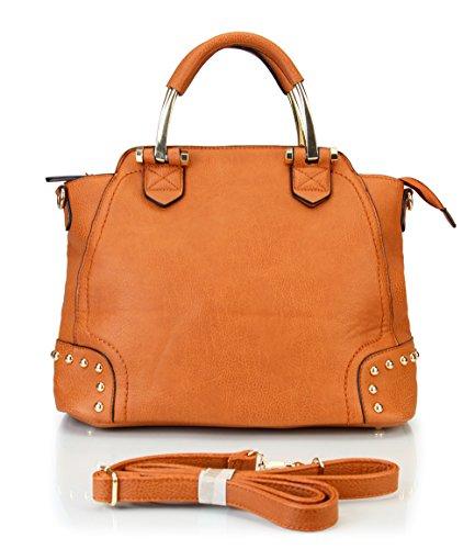 rimen-co-tote-satchel-large-shopper-purse-bag-women-handbag-accented-metal-top-handle-rx-1616-brown1