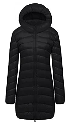 Cloudy Arch Women's Lightweight Packable Hooded Down Coat
