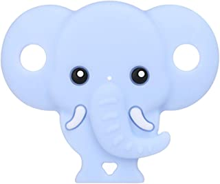 LANDUM Ciuccio in Silicone Ciuccio Elefante Giocattolo da Masticare per Bambini Giocattolo da Masticare Giocattolo per Sonagli - Rosa