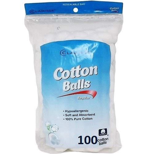 Clarisse New 801888 Cotton Balls 100Ct Triple Size (24-Pack) Cottons Wholesale Bulk Health & Beauty Cottons Men