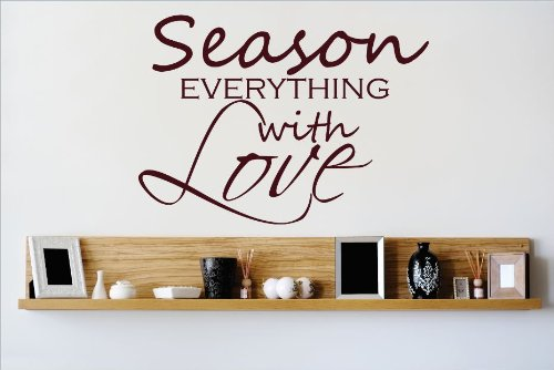 Design with Vinyl OMG 490 As Seen Season Everything with Love Quote Lettering Decal Home Decor Kitchen Living Room Bathroom, 20 by 20-Inch, As Seen by Design with Vinyl B00J64DFYO