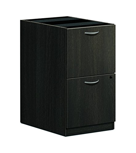 HON BL Series Pedestal File, 2 File Drawers, 15-5/8 W x 21-3/4 D x 27-3/4 H, Espresso Finish
