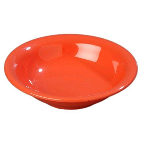 - Carlisle Durus Sunset Orange 14.7 Oz. Rimmed Bowl