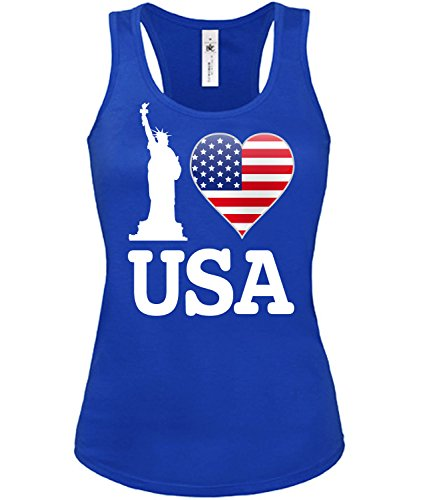 I Love USA - American -mujer camiseta Tamaño S to XXL varios colores S-XL Azul