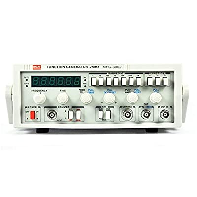 Low Frequency Function Signal Generator MFG-3002 2MHz Signal Source 30M Frequency Meter High Precision (Size : 220V)