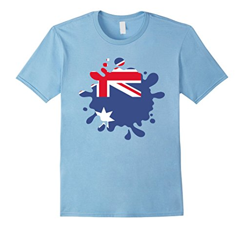 Blues Brothers Costume Australia (Mens Super PANAMA Hearts Australia Patriot Australian Flag T Shir Large Baby Blue)