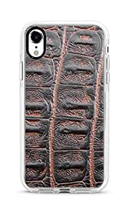 Stylizedd iPhone XR Cover Impact Pro White Military Grade Shockproof Case - Viper Leather Design Print Full