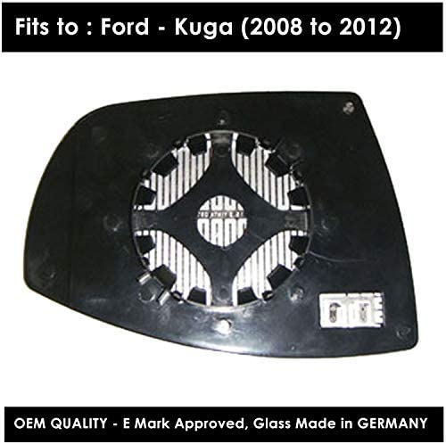 Clip On Passenger left hand side Heated wing door Silver mirror glass with backing plate #W-SHY//L-FDKUA08