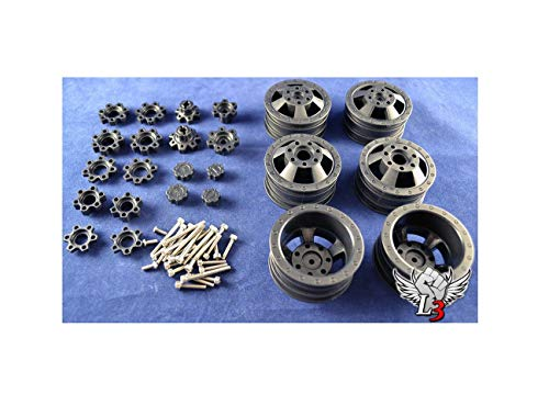 Reliable SCX10 DUALLY Rims Fully Adjustable RC Truck Rim KIT Compatbie w/Axial 1.9 Rims Quick Arrive
