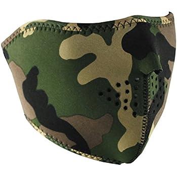 ZANheadgear Neoprene Half Face Mask (Woodland Camouflage)