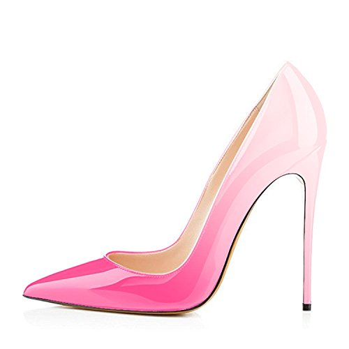 Slip Heels On Women's for Pumps Pumps fuschia Shoes Sexy High A Toe Pointed Women Shoes Maguidern Bzvfqa