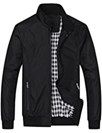 Men Windbreaker Bomber Jacket Lightweight Softshell Outdoor Sportswear Casual Coat