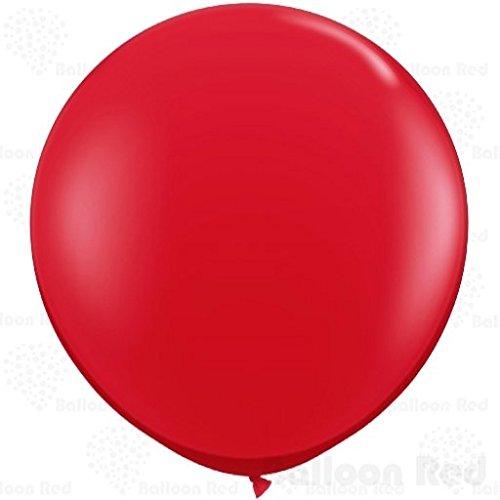 [36 Inch Giant Jumbo Latex Balloons (Premium Helium Quality), Pack of 3, Red] (Round 3 Costumes)