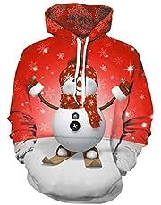 PPPPA Heren 3D Print Kerst Hooded Sweater Lange Mouw Fun Cosplay Kostuum Hoodie Hoodie Heren Kerst Trui 3D Print Capuchon Kerst Trui Sweatshirt Casual Lange Mouw