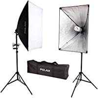 POLAM-FOTO 700W Soft Box 20X28 Light Lighting Kit Photo Equipment Soft Studio Light Softbox with E27 Socket and Carry Bag