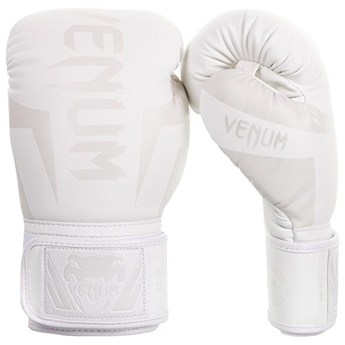 Venum Elite Boxing Gloves - White/White - 10oz, 10 oz