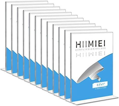 [해외]HIIMIEI 12 Pack 8.5x11 Acrylic Sign Holder Table Menu Display Stand Clear Plastic Double Sided Ads Picture Frames Holder / HIIMIEI 12 Pack 8.5x11 Acrylic Sign Holder Table Menu Display Stand, Clear Plastic Double Sided Ads Picture ...