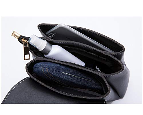 Pequeña Elegante Pu Bag Cruzado Bandolera Bolso Mujer Shoulder De Crossbody Dama Cuero Negro Estanca Saino Bolsa Hombro tHYwZ