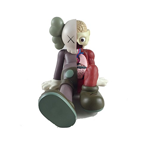 KAWS BFF Sit Sitting 12 inch Dissected Companion Original Fake Art Toys Action Figure Figurine Plush Doll Toy Model Statue Accessories Collection Morden Gift 3 Color Black Brown Grey Fancy