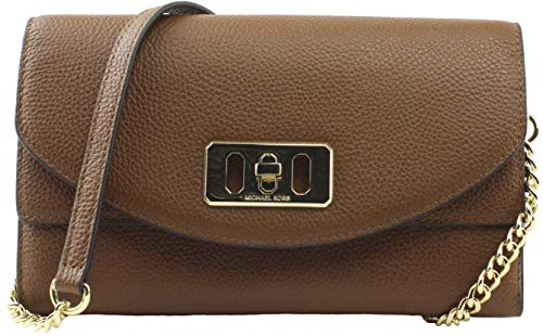 Michael Kors Karson Wallet Clutch Leather Luggage ()