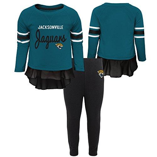 Outerstuff NFL Jacksonville Jaguars Toddler Mini Formation Long Sleeve Top & Legging Set Jag Teal, 4T
