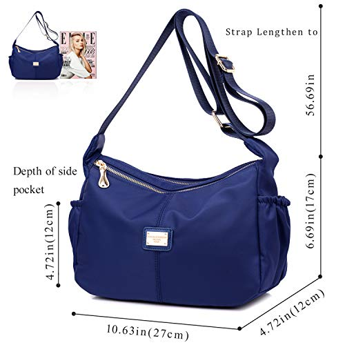 Ladies Bags Bag Women Medium Shoulder for Bags Blue Messenger Purses Handbags Crossbody 5wXCCq0