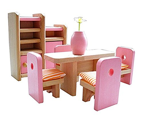 Kangkang@ Cute Kids Play House Toys Set Wooden Assembling Furniture Toys Indoor Outdoor (Playhouse Furniture)