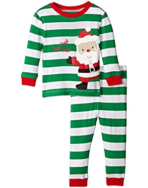 Baby Boys' Santa 2 Piece Cotton Pajamas