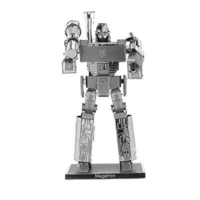 Metal Earth Fascinations Transformers Megatron Puzzle In Metallo 3d Giocattoli Da Costruzione Modelli Di Taglio Laser