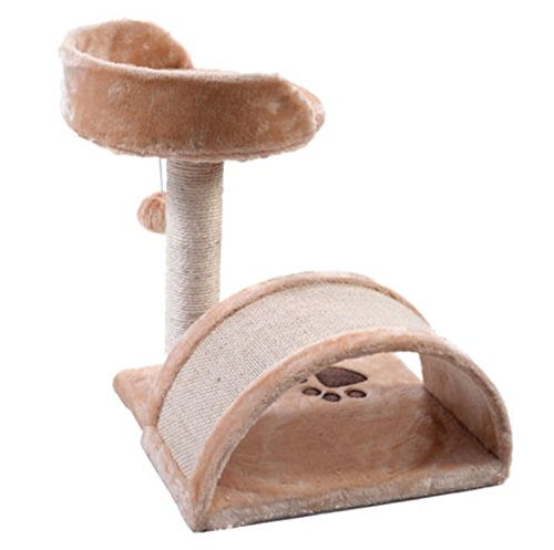 [Cat Tree Post Pet House Funiture Condo Scratching Kitty Toy Beige] (Buffalo Bob Costume)