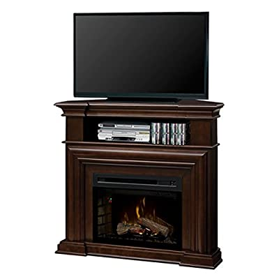 DIMPLEX Electric Fireplace, TV Stand, Media Console, Space Heater and Entertainment Center with Natural Log Set in Espresso Finish - Montgomery #GDS25HL-1057E