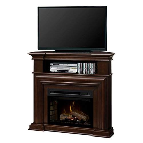 (DIMPLEX Electric Fireplace, TV Stand, Media Console, Space Heater and Entertainment Center with Natural Log Set in Espresso Finish - Montgomery #GDS25HL-1057E)